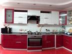 Кухня цвета клубника со сливками малая